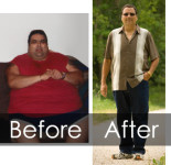Image of Tim before and after gastric bypass surgery