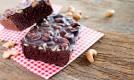 nuts brownie on table