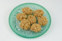 Peanut butter oatmeal cookies on plate